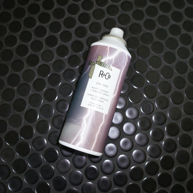 R+Co's ZIG ZAG spray boosts texture, while the other products in the line add shine, form waves, and hydrate.