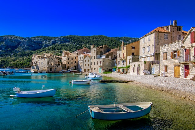 Boats at rest on the Island Vis