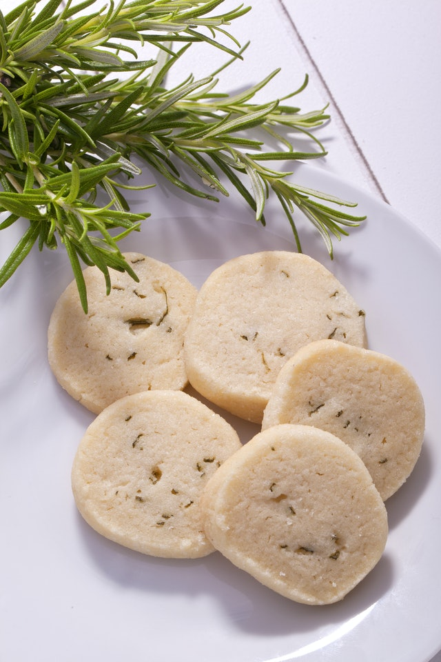 sweet delicious healty homemade gourmet rosemary shortbread