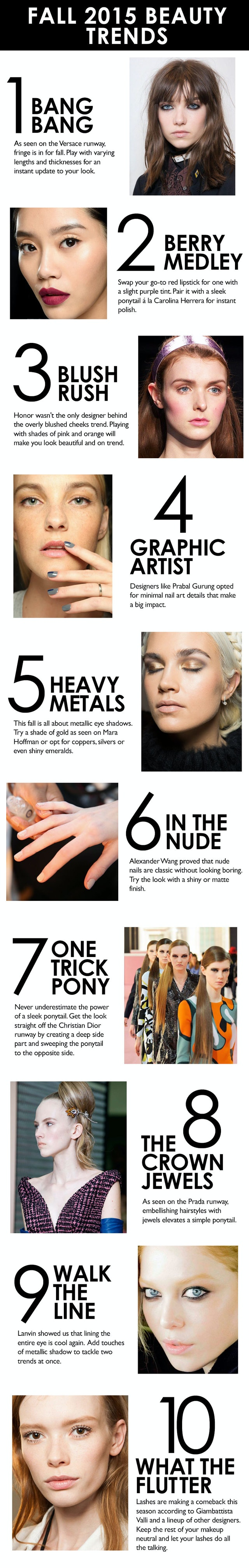 A Guide To The Best Beauty Trends For Fall 2015