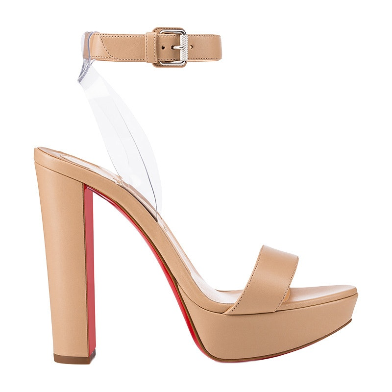 louboutin nude sandals