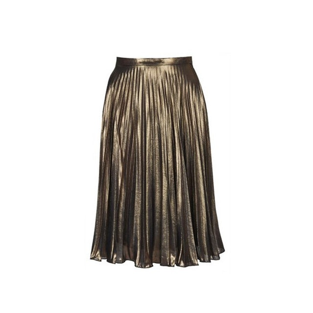 8 Metallic Pleated Skirts To Dress Up Or Down This Winter
