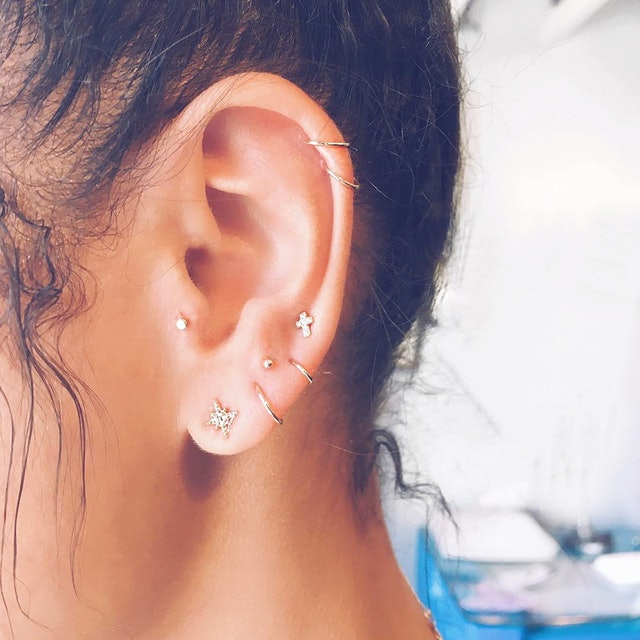 Elegant Beautiful Ear Piercings