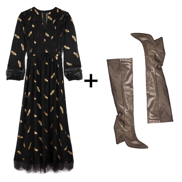 The Dress And Boot Combo Every It Girl Is Wearing